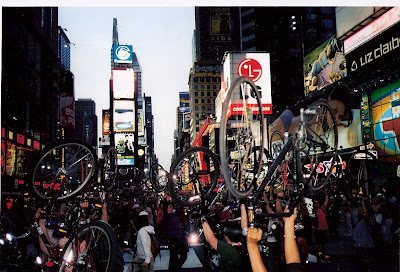 Image of bike lift at Critical Mass in Times Square