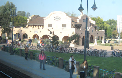 Image of the train station in Davis, California