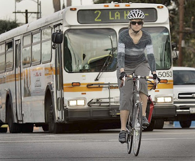 Image of bicyclist Monica Howe in Los Angeles