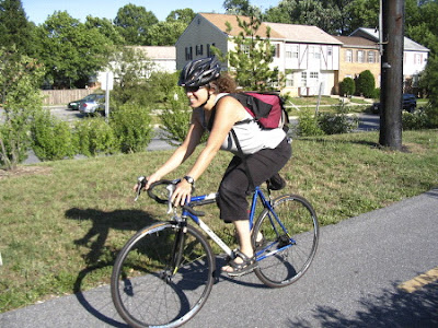 Maryland bike commuter