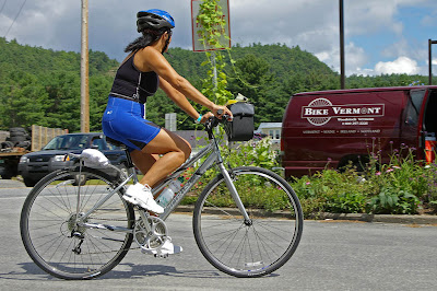 Image of bicyclist in Vermont