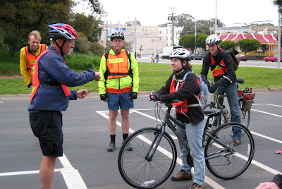 Image of bike safety education class in San Francisco