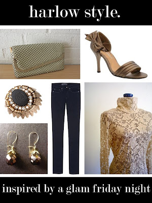 harlow style. inspired by a glam friday night. :  glamour accessories etsy cocktail ring