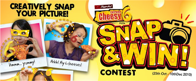 Pizza Hut 'Cheesy 6 - Snap and Win' Contest