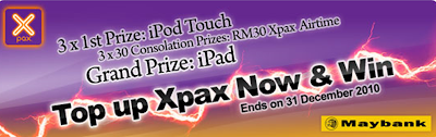 Maybank 'Top Up Xpax Now and Win' Contest