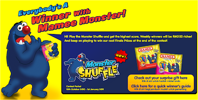 Mamee Monster 'Everybody's A Winner' Contest