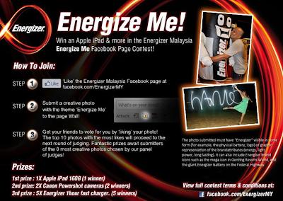 Energizer 'Energize Me' Contest
