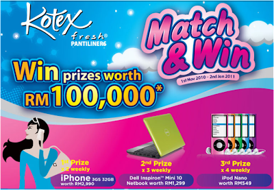Kotex 'Match & Win' Contest