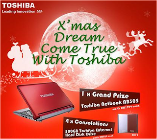 Toshiba 'X'mas  Dream Come True' Contest