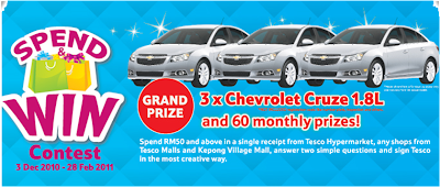 Tesco 'Spend & Win' Contest