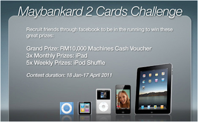 Maybankard '2 Cards Challenge' Contest