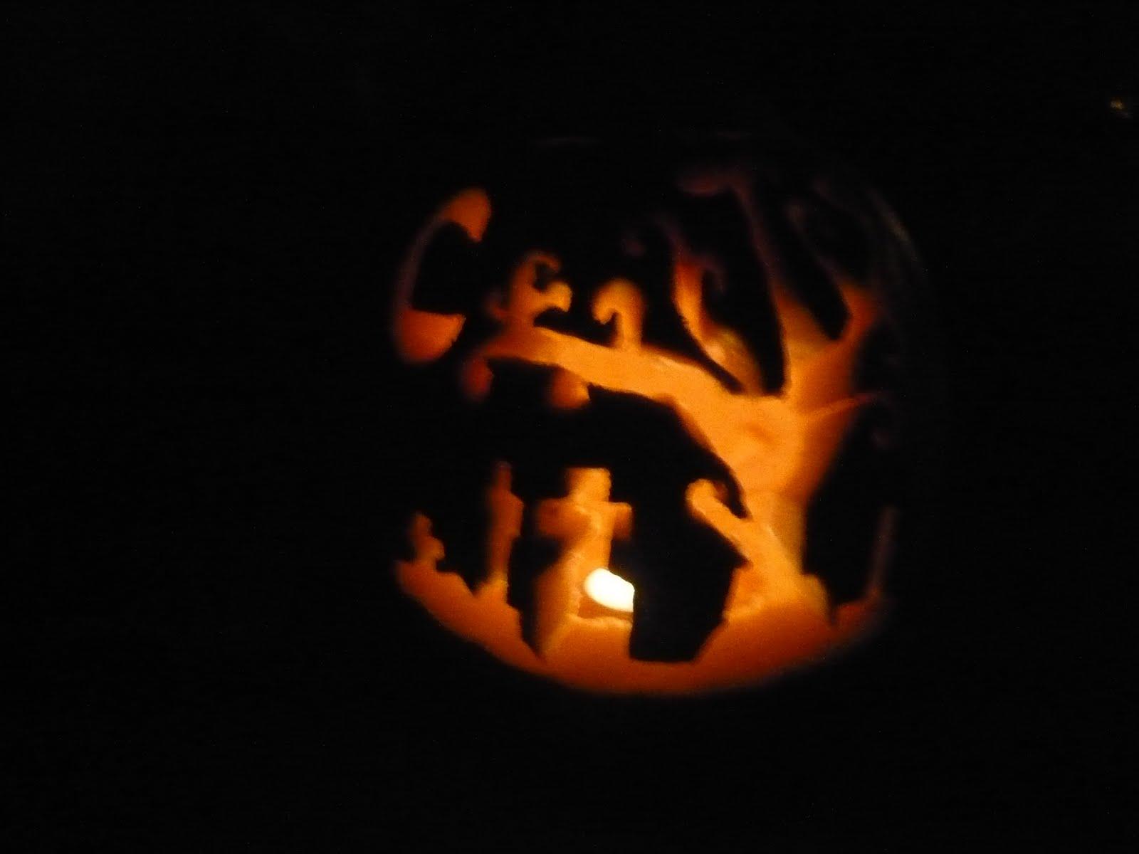 Walking dead pumpkin template spooky graveyard pumpkin