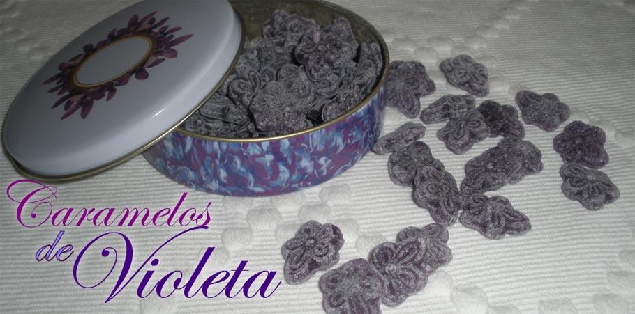 caramelos de violeta