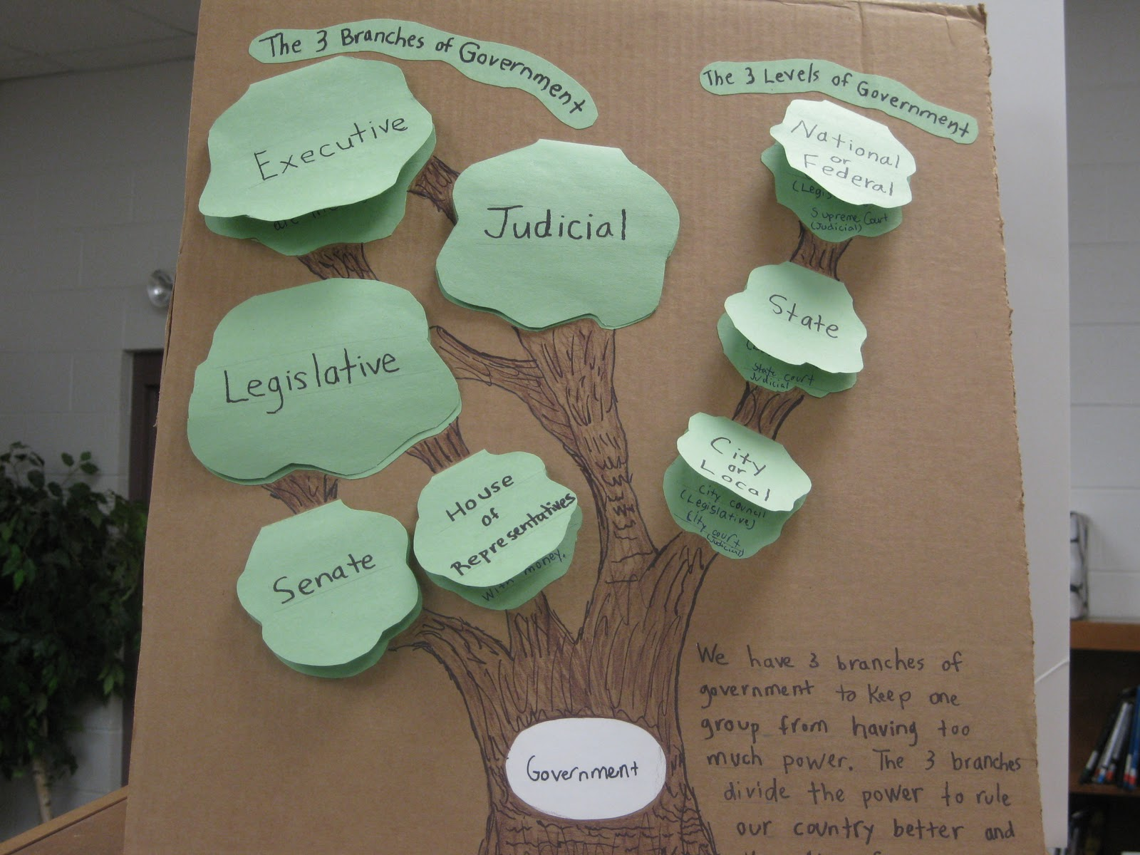 Branches Of Government For Kids Checks And Balances Graphic Organizer ...