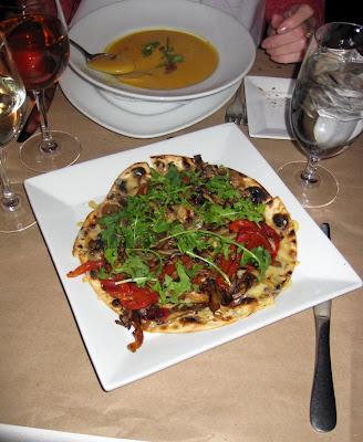 Wild mushroom pizzeta