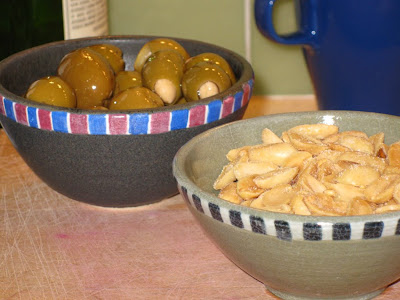Stuffed olives and nuts