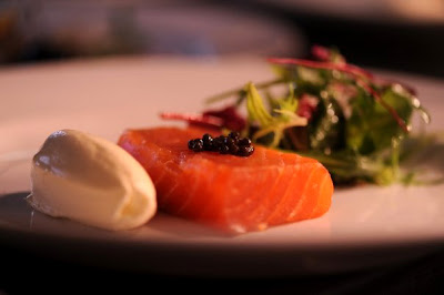Pavé of Nut Tree smoked Orkney salmon - The Nut Tree