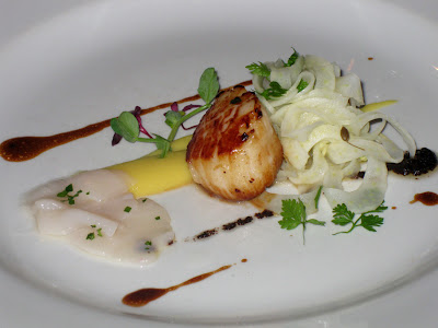 Grilled diver-caught scallops - The Nut Tree