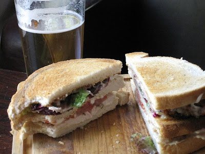 Chicken club sandwish - The Dukes Head