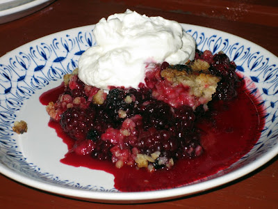 Wild blackberry crumble - Strib, Danmark