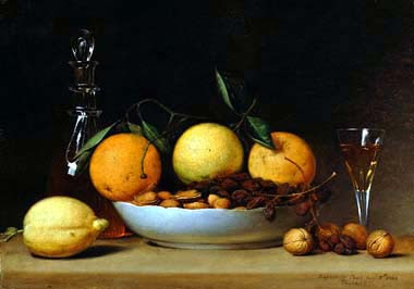 Raphaelle Peale, A Dessert (Still Life with Lemons and Oranges), 1814