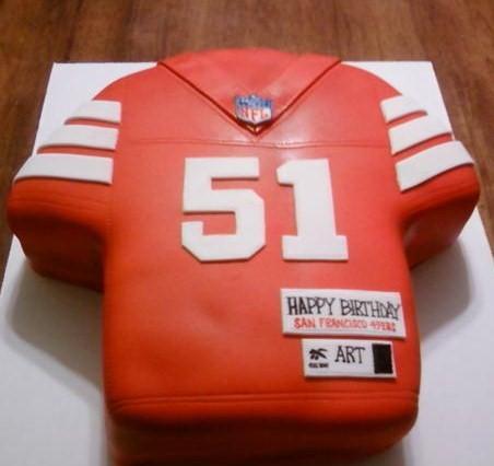 Niners Jersey Birthday Cake
