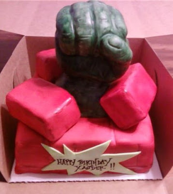 Red Hulk Birthday Cake Image Inspiration of Cake and Birthday