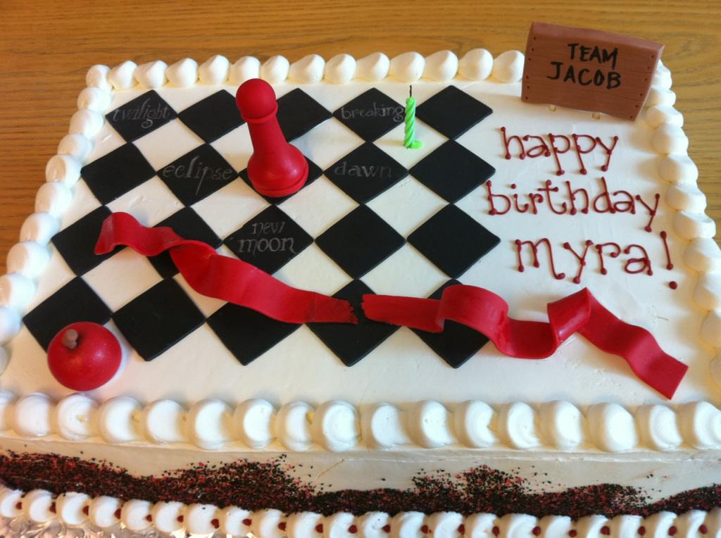 Taras Piece Of Cake Twilight Birthday Cake