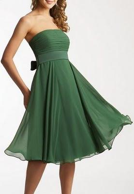 Entre miel, chocolate y azucar [Lily E. Evans] Vestidos+verdes+cortos+sin+tirantes
