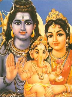 Shiva, Parvathi y Ganesha