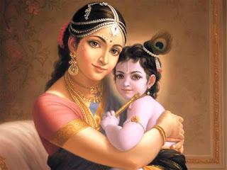 Yasoda y Krishna