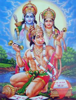 Rama, Sita y Hanuman