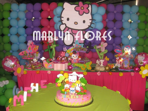 DECORACIONES CON GLOBOS Y ANIME