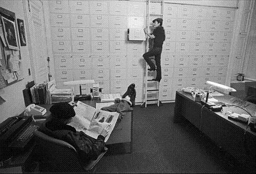 John and Yoko in their studio