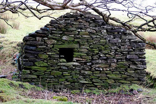 Dry stone building near Glencolmkille Co Donegal by frankhound05