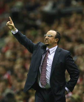 Benitez barks orders from the sidelines last night