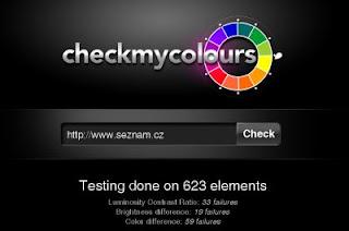 Ukázka výstupu CheckMyColours