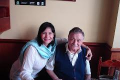 Con un poeta muy especial  en Montevideo- Uruguay