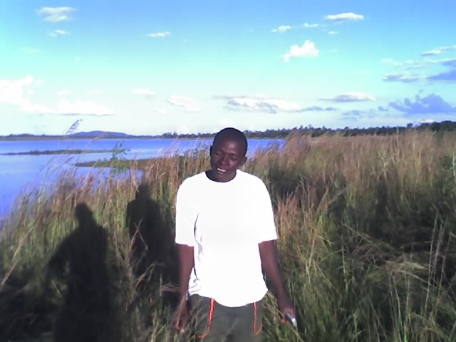 james chamunorwa at  dam wall Gwebi