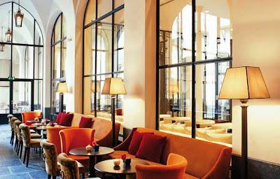 Luxury Interior Hotel Château de la Poste in Belgium.
