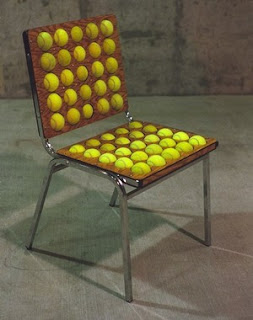 Recycled tennis ball chair