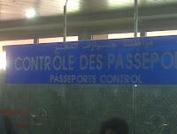 Controle des Passeports Marrakesh Airport Sign