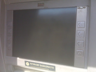 ATM Screen blinded by Sunlight