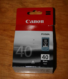 Canon Ink PG40 Packaging