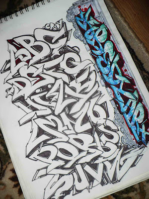 graffiti font tattoos. Create Graffiti Fonts In The