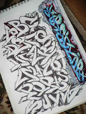 graffiti fonts. Create Graffiti Fonts In The