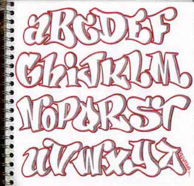 design sketch graffiti alphabet letters a z in the paper sketch graffiti alphabets with pink color bubble style graffiti fonts