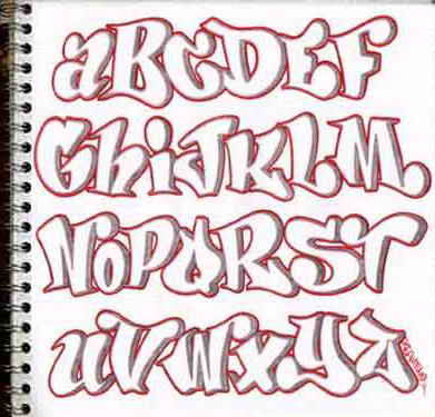 Graffiti On The Wall Design Sketch Alphabet