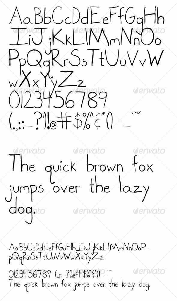 Hand Drawn Graffiti Alphabet Letters