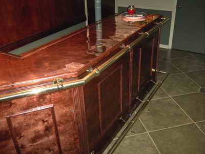 wine rack bar design